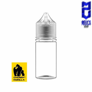 Chubby Gorilla V3 Clear+Black Cap 30ml 100Pack - Unicorn Bottles