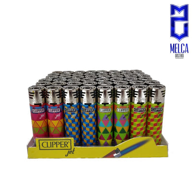Clipper Lighter Jet Flame Geometrics 48 Units - Lighters