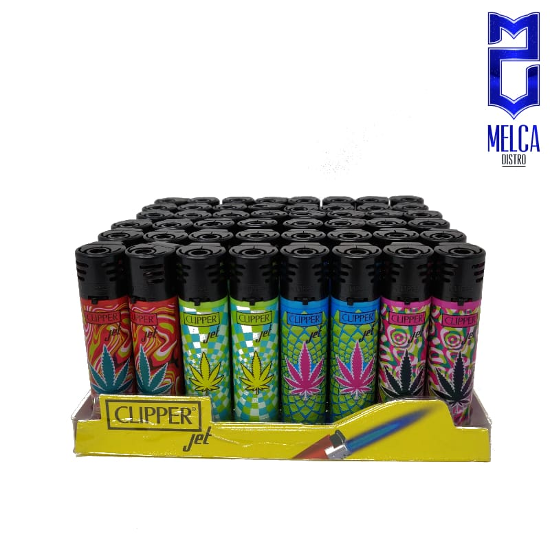 Clipper Lighter Jet Flame Leaves 48 Units - Lighters