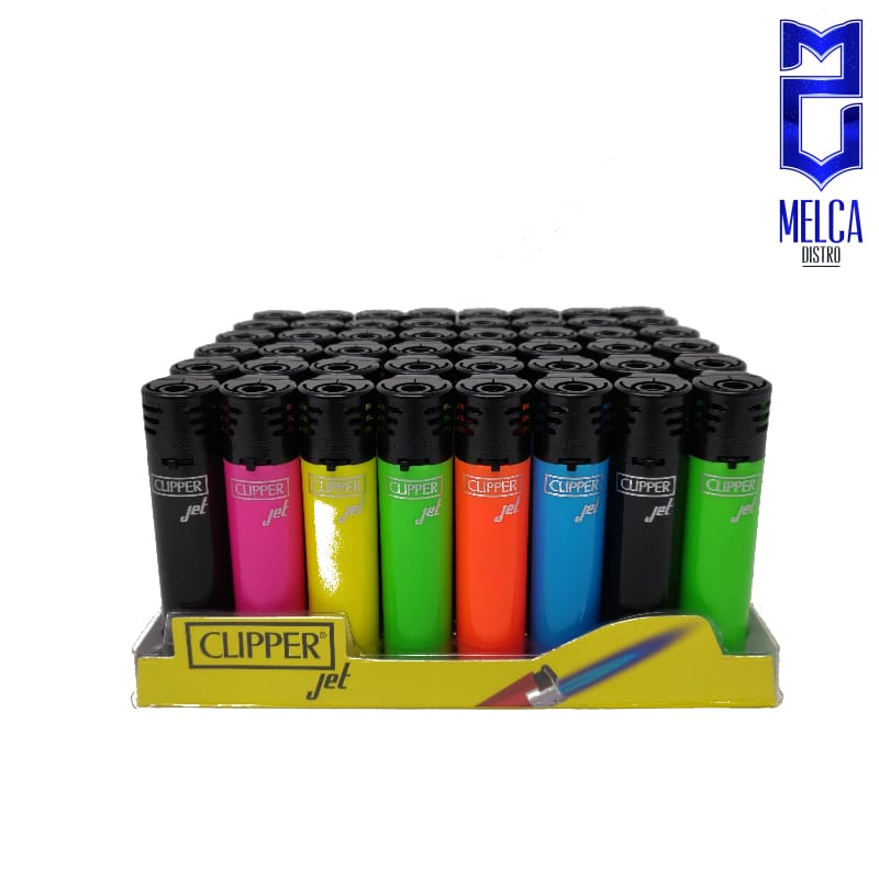 Clipper Lighter Jet Flame Shiny Colors 48 Units - Lighters