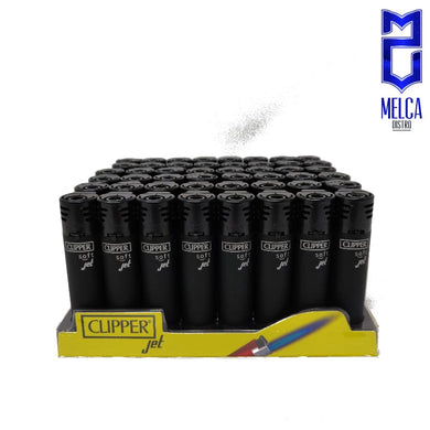Clipper Lighter Jet Flame Soft Black 48 Units - Lighters