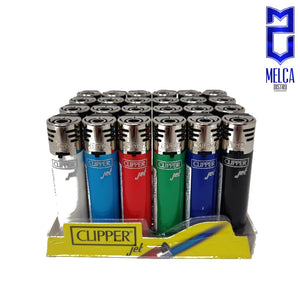 Clipper Lighter Jet Flame Solid Colors 24 Units - Lighters