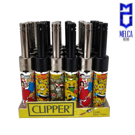 Clipper Lighter Minitube Emoji 24 Units - Lighters