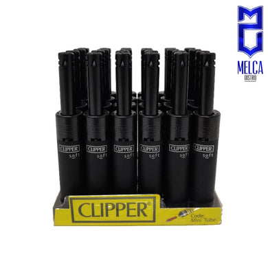 Clipper Lighter Minitube Soft Black 24 Units - Lighters