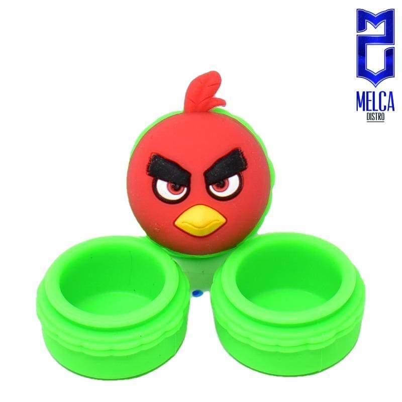 Wax Container Angry Bird 10ml - Green 10ml - WAX CONTAINERS