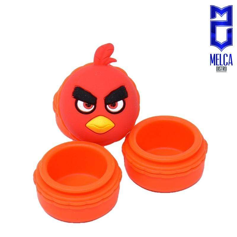 Wax Container Angry Bird 10ml - Orange 10ml - WAX CONTAINERS