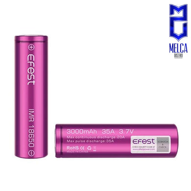 Efest Battery 18650 3000mAh 35A - Batteries