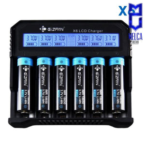 Eizfan X6 6-bay LCD Universal Charger - Chargers