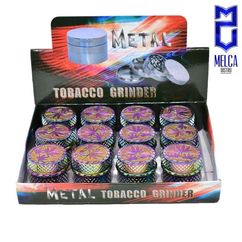 Grinder Leaves Rainbow 12-Pack AD-H067 - GRINDERS