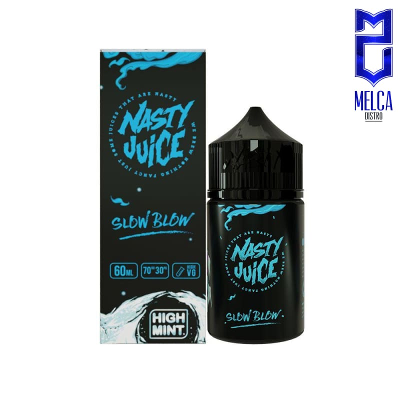 Nasty High Mint Slow Blow 60ml - E-Liquids