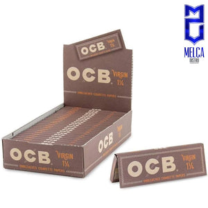 OCB PAPEL VIRGIN - 1.1/4 CAJA 25 LIBRITOS