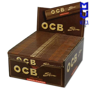 OCB PAPEL VIRGIN - SLIM CAJA 50 LIBRITOS