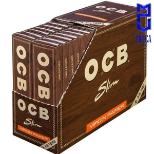 OCB PAPEL VIRGIN - SLIM+TIPS CAJA 32 LIBRITOS