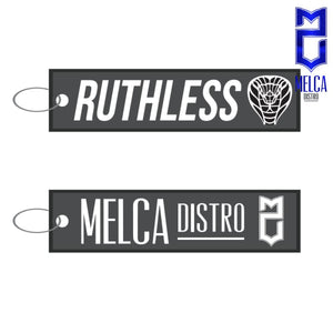 Ruthless + Melca Distro Keychain - Apparel