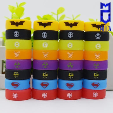 Super Heroes Silicone Bands 80Pack - Protection Bands