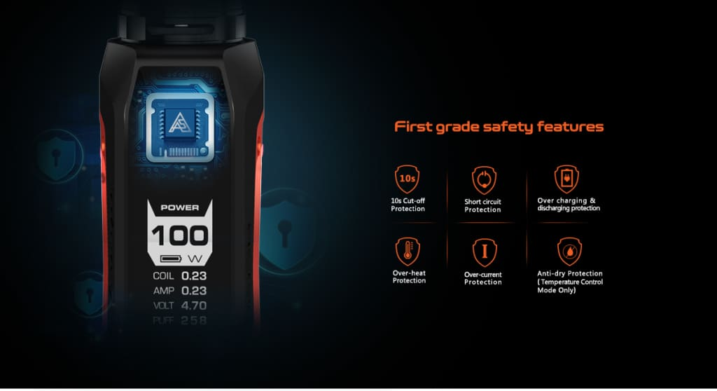 Aegissolo safety features