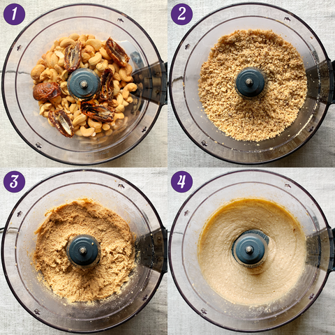 Steps for making cashew butter