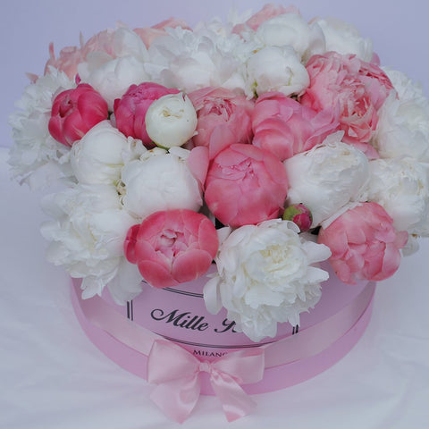 Mille Rose - One Million Box - Peonie  - Scatola Rosa