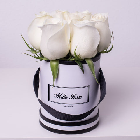 Mille Rose Wedding Collection - Mini Box - Rose Bianche - Scatola Bianca