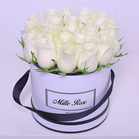 Mille Rose Collection - Small Box - Rose Bianche - Scatola Bianca