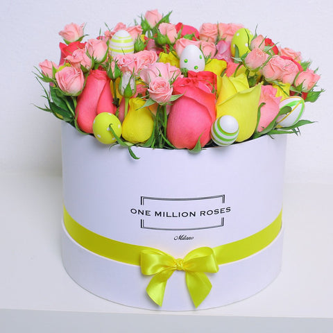 Easter Collection - Medium Box - Rose Mix - Scatola Bianca