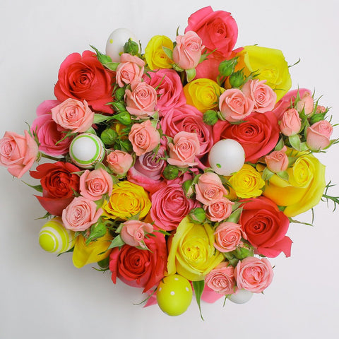 Easter Collection - Small Box - Rose Mix - Scatola Bianca