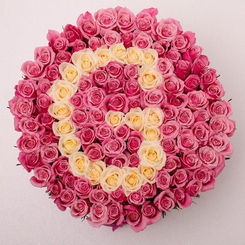 Custom Collection - One Million Box - Rose Panna e Rosa - Scatola bianca
