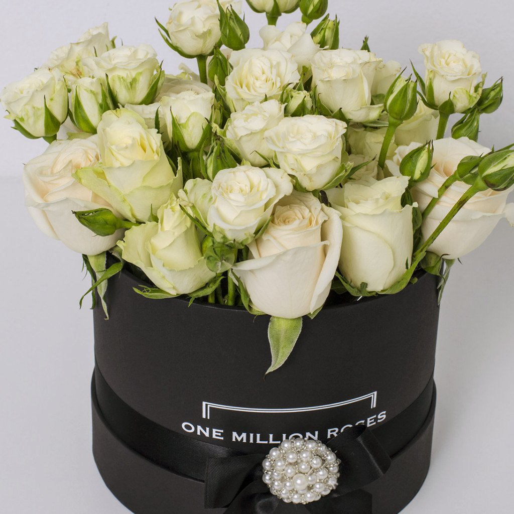 Wedding Collection - Small Box - Rose Bianco Mix - Scatola Nera
