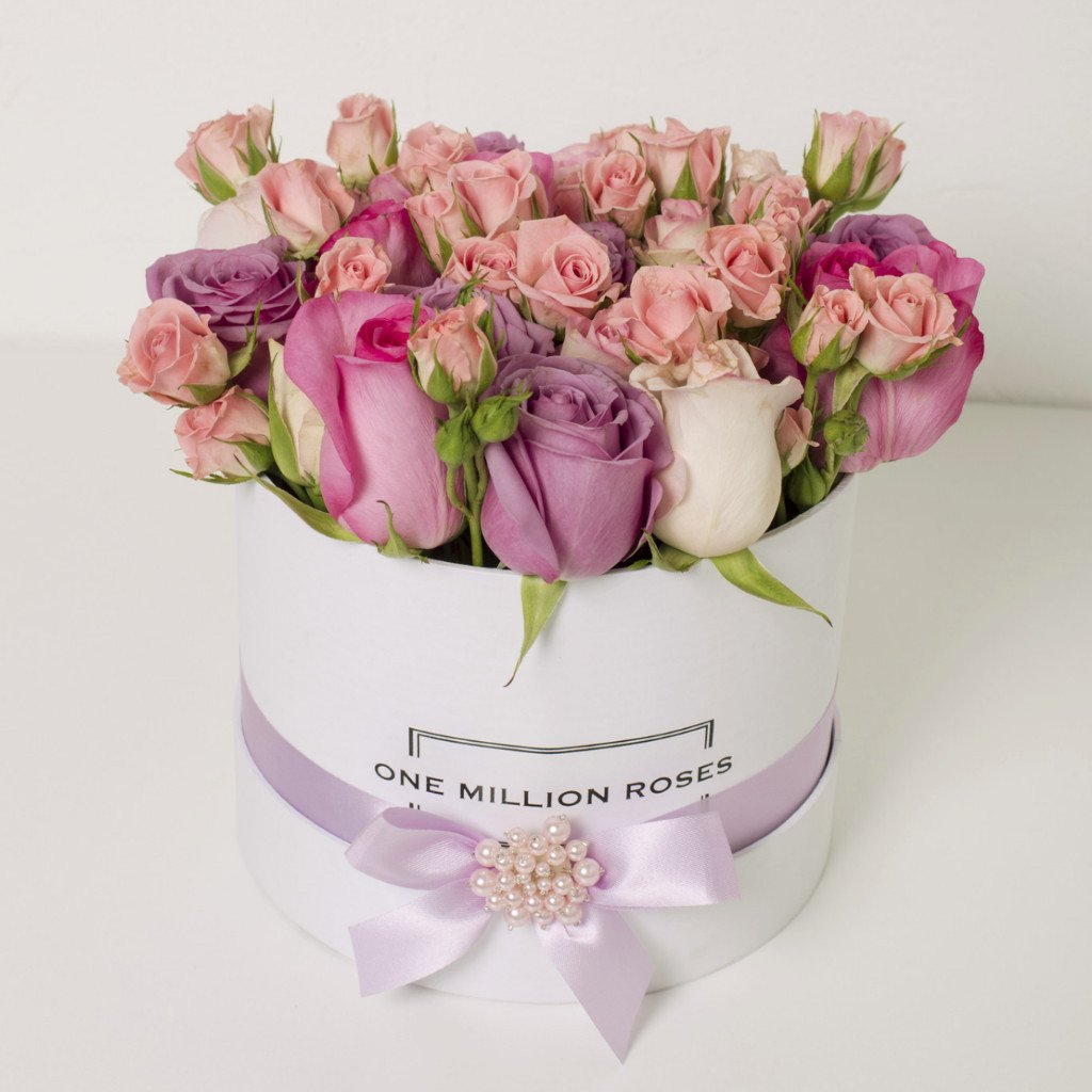 Wedding Collection - Small Box - Rose Rosa Mix - Scatola Bianca