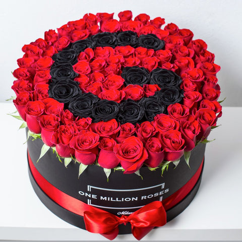 Custom Collection - One Million Box - Rose Rosse e Nere - Scatola nera