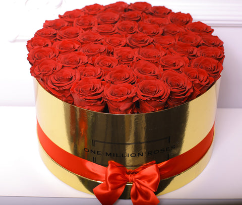 Senza Tempo - One Million Box - Rose Rosse - Scatola Oro