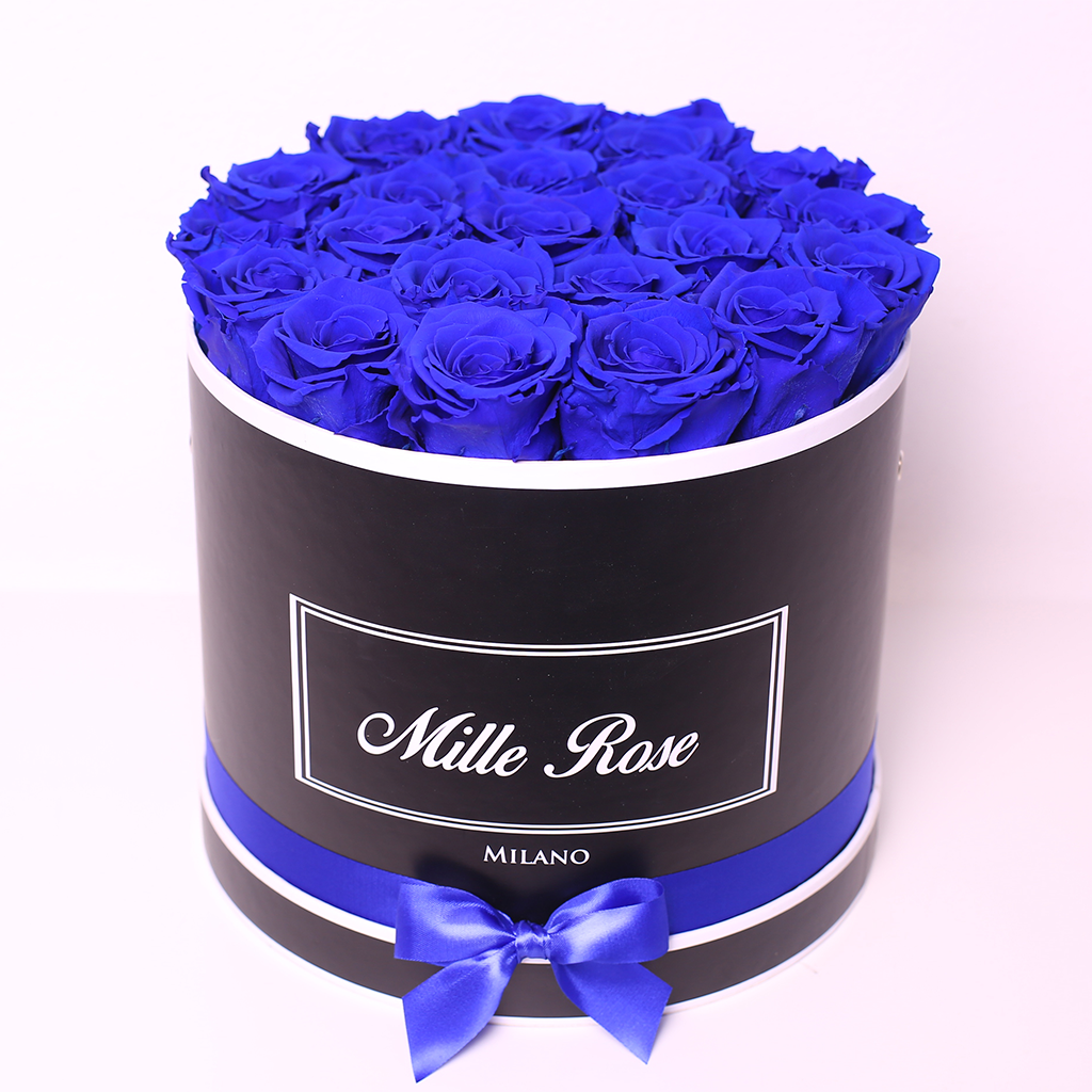 Senza Tempo - Mille Rose - Medium Box - Rose Blu - Scatola Nera