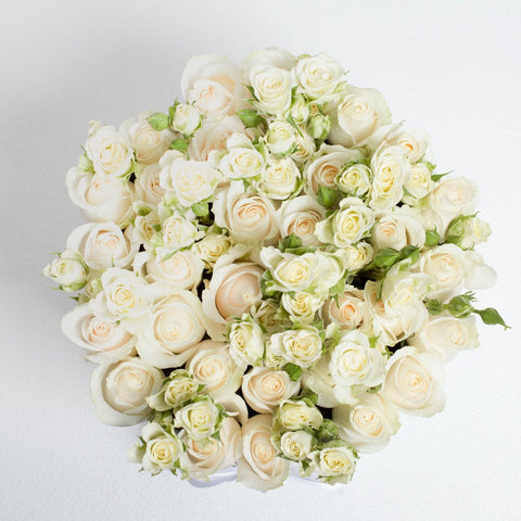 Wedding Collection - Medium Box - Rose Bianco Mix - Scatola Bianca