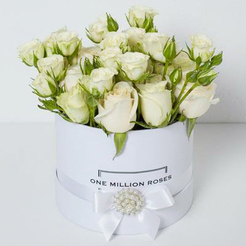 Wedding Collection - Small Box - Rose Bianco Mix - Scatola Bianca
