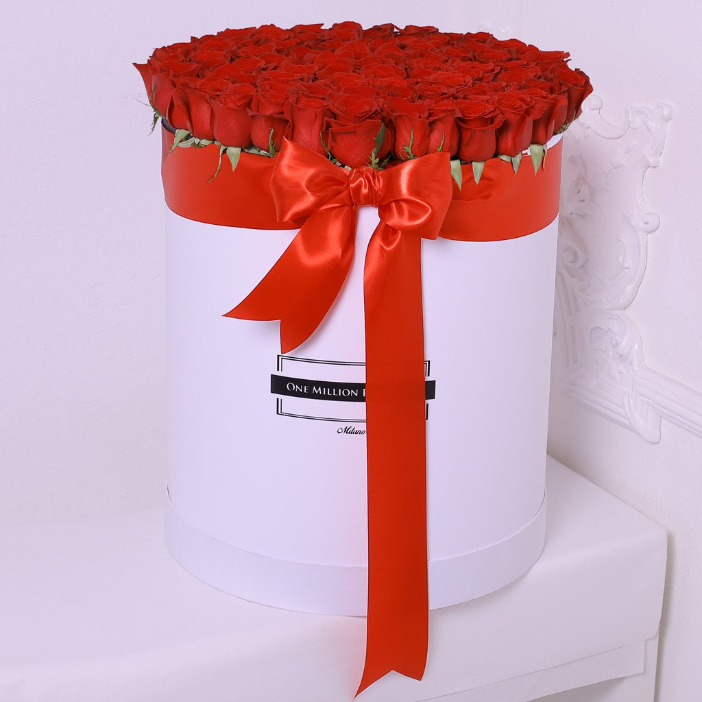 Classic Collection - One Billion Box - Rose Rosse - Scatola Bianca
