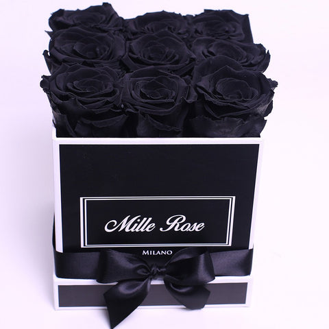Classic Collection - Cube Box - Rose Mix Rosa - Scatola Nera