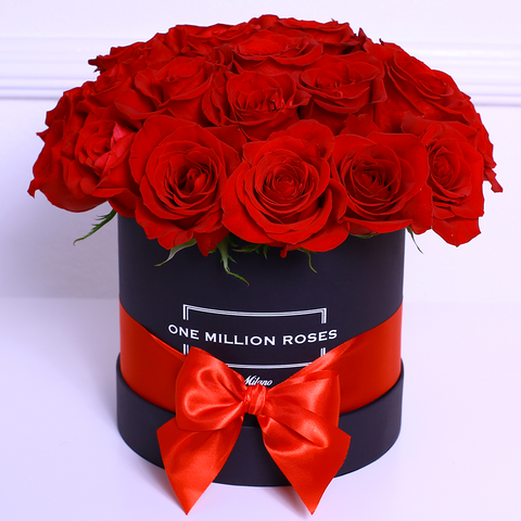 Classic Collection - Small Box - Rose Rosse Sfera - Scatola Nera