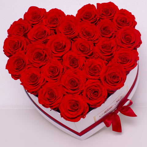 Senza Tempo - Mille Rose - Love Box - Rose Rosse - Scatola Bianca