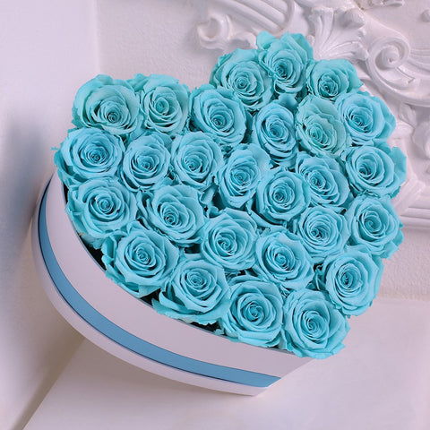 Senza Tempo - Mille Rose - Love Box - Rose Tiffany - Scatola Bianca
