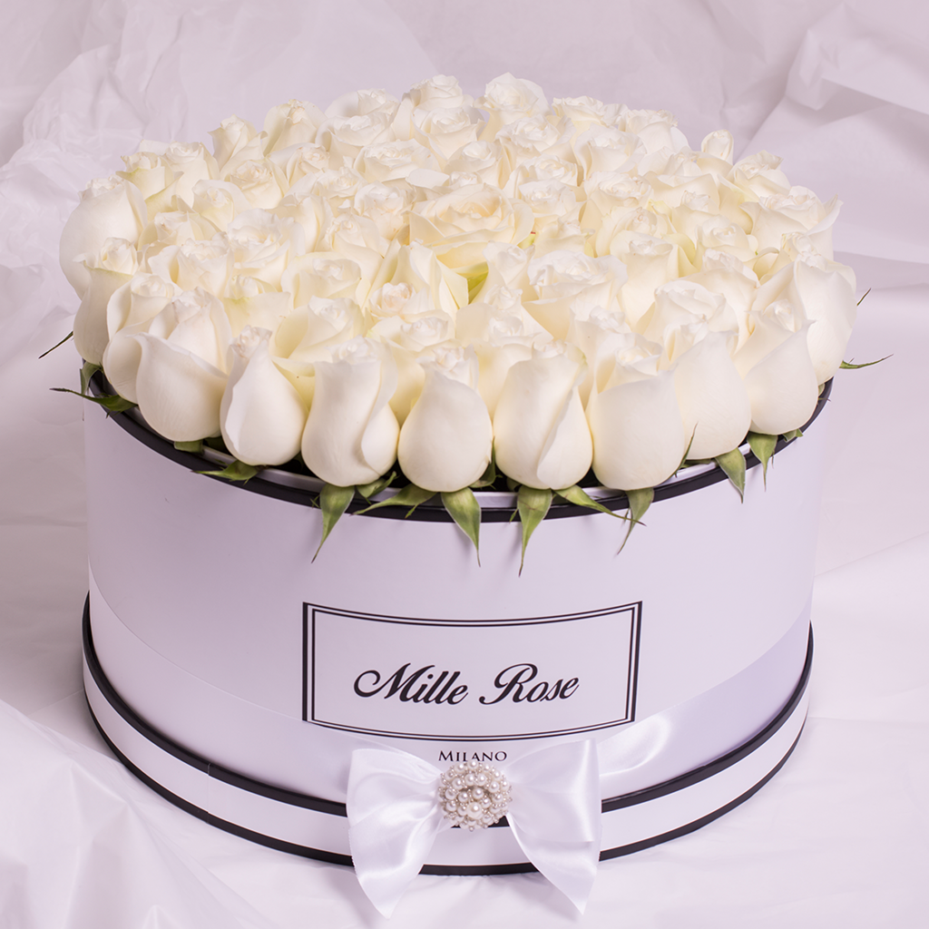 Wedding Collection - Million Box - Rose Bianche - Scatola Bianca