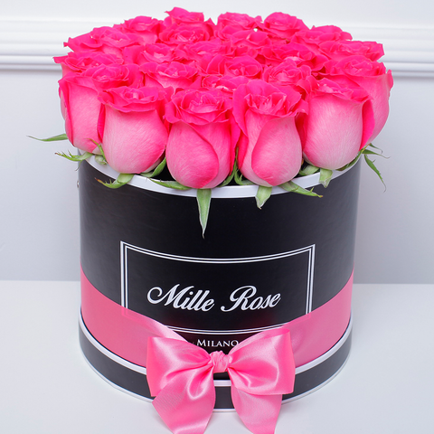 Mille Rose Collection - Medium Box - Rose Fucsia - Scatola Nera