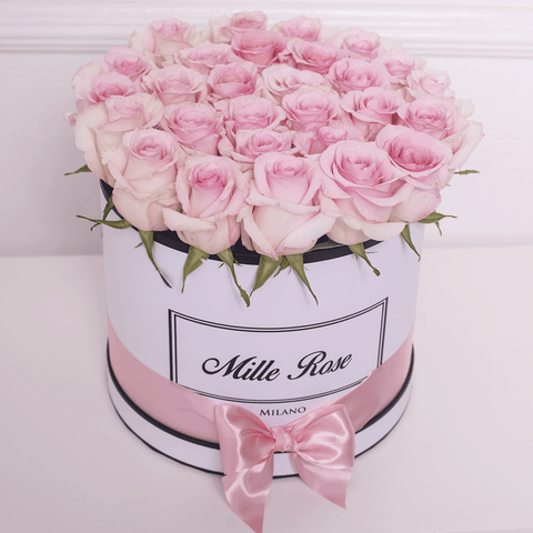 Mille Rose Collection - Medium Box - Rose Rosa Cipria - Scatola Bianca