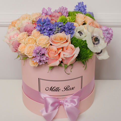 Mille Rose Collection - Medium Box - Rose Mix - Scatola Rosa