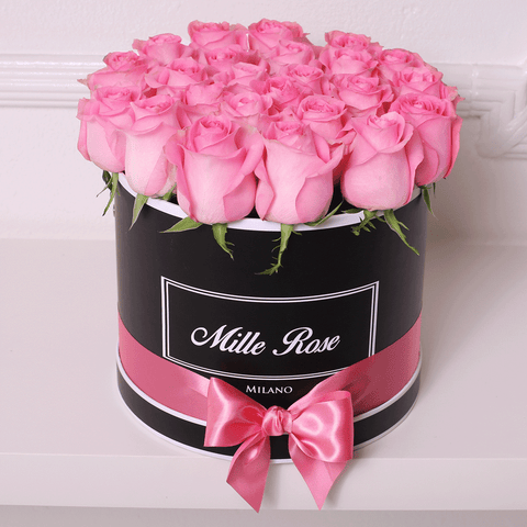 Mille Rose Collection - Medium Box - Rose Rosa - Scatola Nera