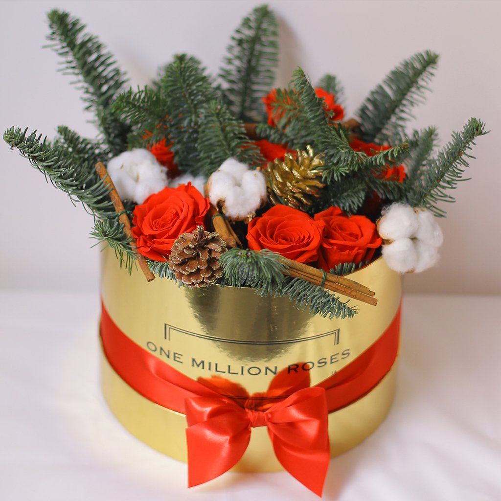 Christmas Collection - Senza Tempo - Medium Box - Mix Natale - Scatola Oro