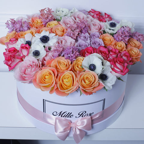 Mille Rose - One Million Box - Rose Mix Anemoni - Scatola Bianca