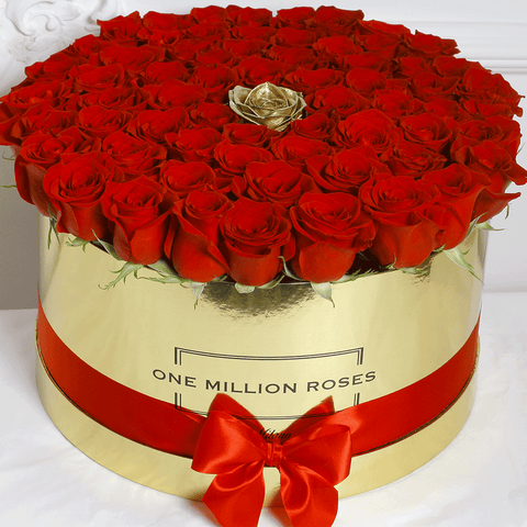 Classic Collection - One Million Box - Rose Rosse e Oro - Scatola Oro