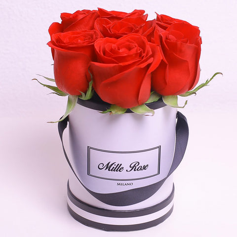 Mille Rose Collection - Mini Box - Rose Rosse - Scatola Bianca