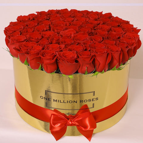 Classic Collection - One Million Box - Rose Rosse - Scatola Oro