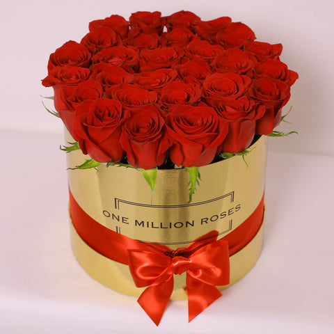 Classic Collection - Medium Box - Rose Rosse - Scatola Oro